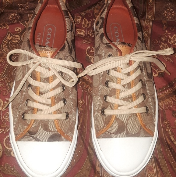 Coach Shoes - AUTHENTIC Classic Coach Canvas Logo Sneakers